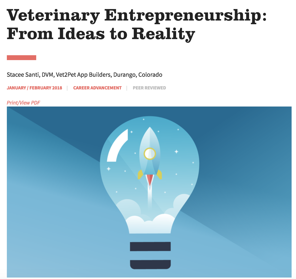 Veterinary Entrepreneurship: From Ideas to Reality