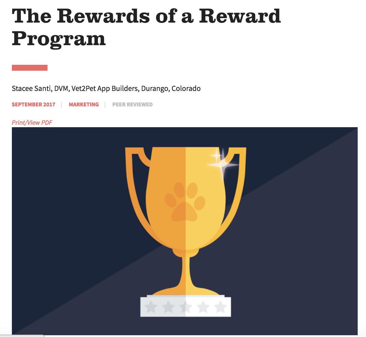 The Rewards of a Reward Program