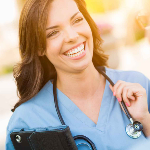 smiling veterinarian