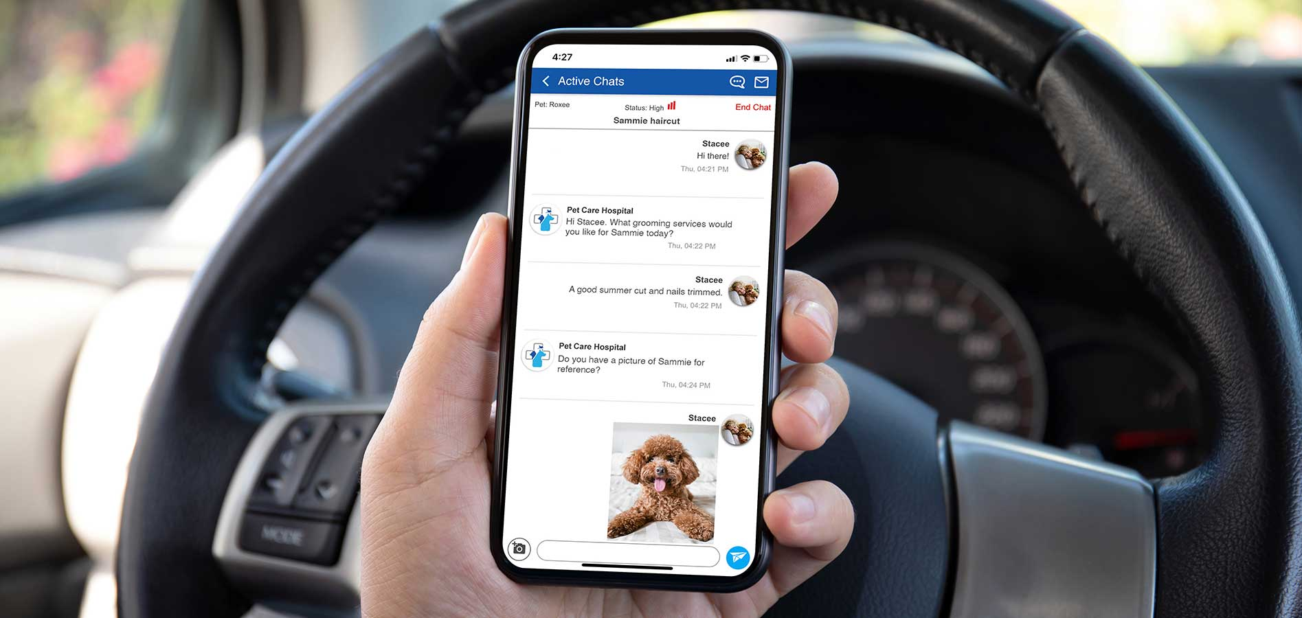 veterinary boarding & grooming pick-up and drop-off app
